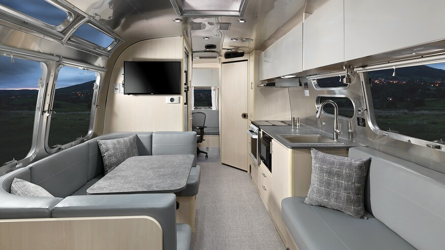 Airstream Flying-Cloud-30FB-Sofa-Kitchen-Dining-Space