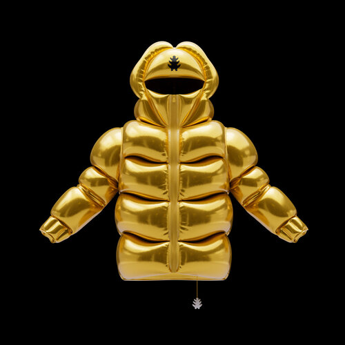 Helium-10000 inflatable flying gold color jacket
