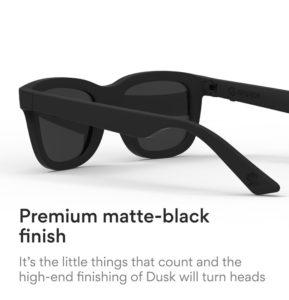 Dusk sunglasses matte-black finish