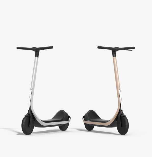 Scotsman 3D printed electric scooter pair